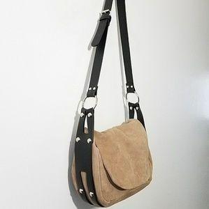 Kimchi Blue suede & harness crossbody bag